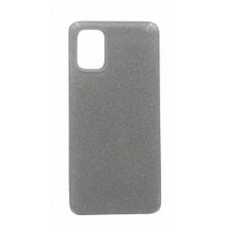 Oba Style Back Cover Θήκη Σιλικόνης Με Γκλίτερ Ασημί (Samsung Galaxy A02s)