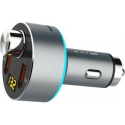EZRA BCR01 Mini Bluetooth MP3 Player & Φορτιστής Αυτοκινήτου Car FM Transmitter Ασημί