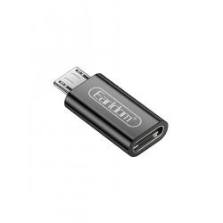 Earldom ET-TC09 Αντάπτορας Type-C to Micro USB Μαύρο