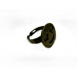 Γυναικείο δαχτυλίδι smile σε μπρούτζινο χρώμα