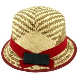Παιδικό καπέλο ψάθινο με κόκκινη κορδέλα