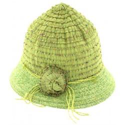 Παιδικό καπέλο ψάθινο λαχανί