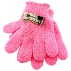 Γάντια παιδικά ροζ ανοιχτό
