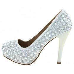 Γυναικεία νυφικά παπούτσια με στρας