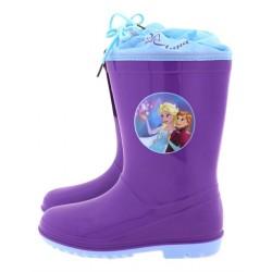 Παιδική γαλότσα μωβ Elsa & Anna (Frozen)