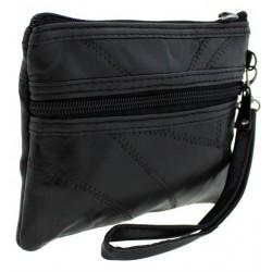 Γυναικεία τσάντα χειρός σε μαύρο χρώμα - δερμάτινο