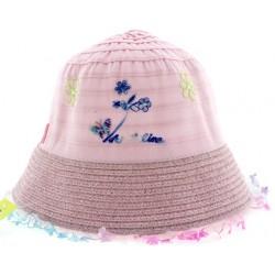 Παιδικό καπέλο υφασμάτινο ροζ χρώμα με σχέδια