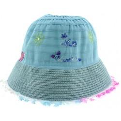Παιδικό καπέλο υφασμάτινο μπλε χρώμα με σχέδια