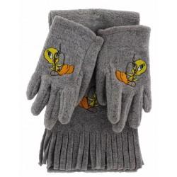 """Παιδικό σετ σκουφί & γάντια """"TWEETY"""""""