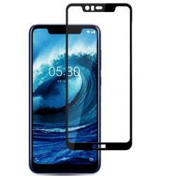 Fullscreen Tempered Glass Μαύρο (Nokia 5.1 Plus)