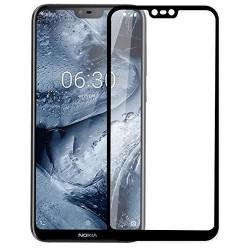 Fullscreen Tempered Glass Μαύρο (Nokia 6.1 Plus)